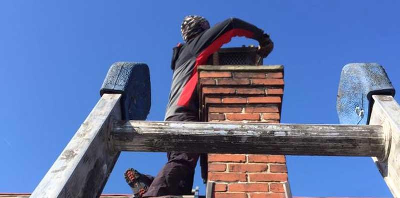 Bat proofing chimneys