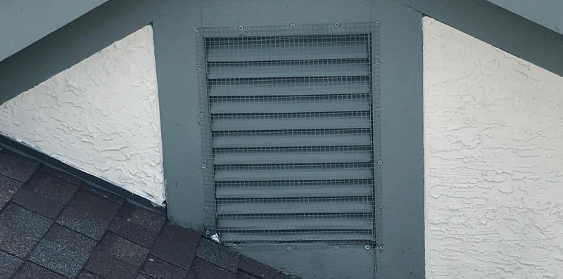 Bat Proofing Structures by placing screening over attic vents