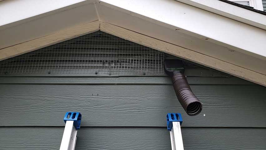Bat valves let bats out when doing Bat Removal And Exclusion